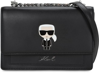 Karl Lagerfeld Paris IKONIK LEATHER SHOULDER BAG