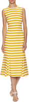Dolce & Gabbana Women's Stripe Silk Flounce Midi Dress