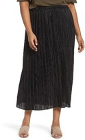 Sejour Plus Size Women's Crinkle Midi Skirt