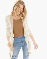 Chico's Mixed-Stitch Crochet Cardigan