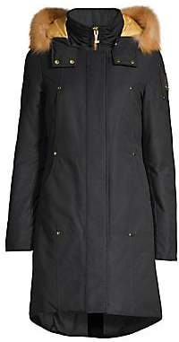 Moose Knuckles Women's Gold Series Grand Fox Fur-Trim Down Parka