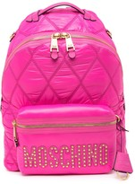Moschino Quilted Signature Backpack
