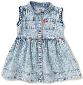 Levi's Baby Girls 12-24 Months Sleeveless Woven Denim Dress