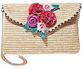 Betsey Johnson Gypsy Rose Straw Flower Crossbody