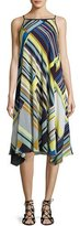 Lafayette 148 New York Taylor Metro-Striped Silk Dress, Multi