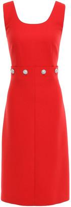 Tory Burch Crystal-embellished Twill Dress