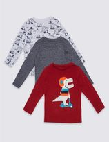 Marks and Spencer 3 Pack Long Sleeve Tops (3 Months - 5 Years)