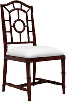 The Well Appointed House Bungalow 5 Chloe Faux Bamboo Side Chair in Walnut