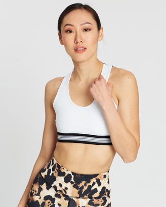 AVE Activewoman - Women's White Compression Tops - Compression Elastic Sport Bra - Size One Size, S at The Iconic