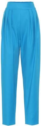 The Attico Stretch-cotton high-rise pants