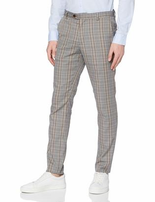 Scotch & Soda Men's Mott-Classic Chino in Yarn-Dyed Pattern Trouser
