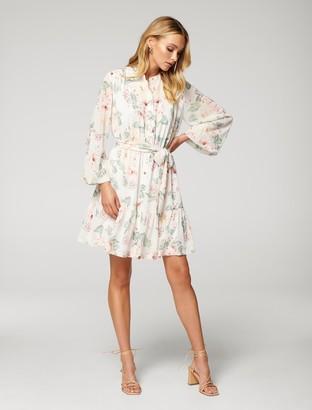 Forever New Alexis Lace Spliced Shirt Dress - Umbria Rose - 10