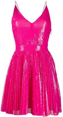 MSGM sequinned flared dress