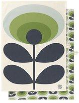Orla Kiely 70S oval Green Tea Towel, Multi/Coloured