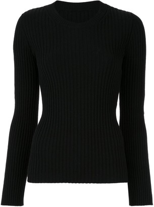 MM6 MAISON MARGIELA Cut Out Detail Ribbed Jumper