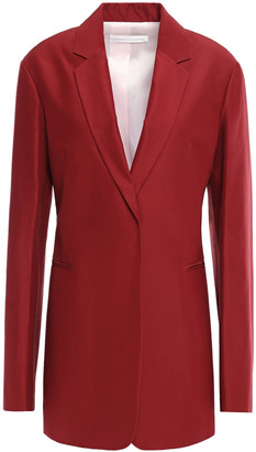 Victoria Beckham Cotton And Silk-blend Blazer
