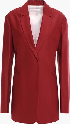 Victoria Beckham Cotton And Silk-blend Blazer
