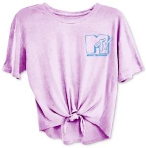 Freeze 24-7 Trendy Plus Size Mtv Tie-Front T-Shirt