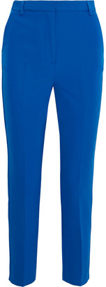 Iris & Ink Carmel Cropped Cady Slim-leg Pants