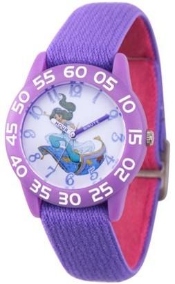 Disney Aladdin Princess Jasmine Girls' Purple Plastic Time Teacher Watch, 1-Pack