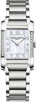 Baume & Mercier Women's Swiss Hampton Diamond Accent Stainless Steel Bracelet Watch 22x35mm M0A10051