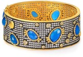 Freida Rothman Blue Agate Embellished Bangle