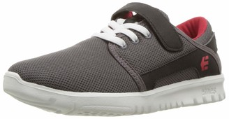 Etnies Boy's Scout V (Toddler/Little Kid/Big Kid) Charcoal 10 Toddler M