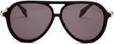 Alexander McQueen Skull-hinge acetate sunglasses