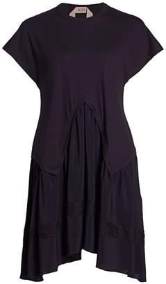 No.21 No. 21 Silk Combo T-Shirt Dress