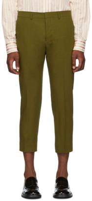 Ami Alexandre Mattiussi Green Cropped Trousers