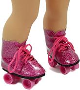 Pink Glitter Roller Skates for 18'' Doll