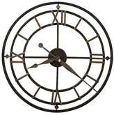 Howard Miller York Station Wall Clock, Black/Gold, 54cm