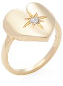 Janis Savitt 18K Yellow Gold & 0.10 Total Ct. Diamond Heart Ring