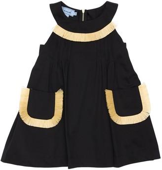 Mi Mi Sol Cotton Satin Dress W/ Raffia Details