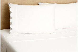 Belle Epoque Scallop Sheet Set - White Twin