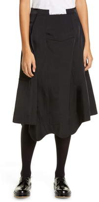 Comme des Garcons Seam Detail Nylon Twill Midi Skirt