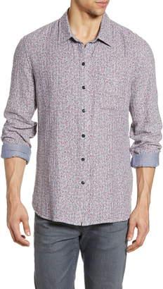 John Varvatos Neil Slim Fit Ditsy Stripe Reversible Button-Up Shirt