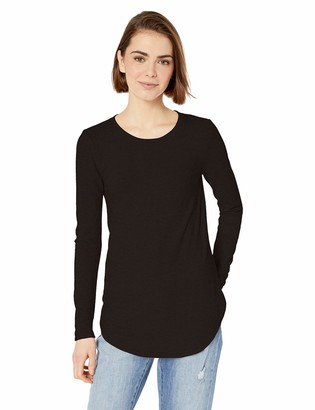 Daily Ritual Women's Cozy Knit Long-Sleeve Shirt with Shirttail Hem