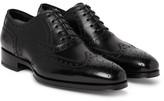 Tom Ford Austin Leather Wingtip Brogues - Black