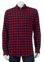 Croft & Barrow Big & Tall Classic-Fit Plaid Flannel Button-Down Shirt