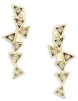 House Of Harlow Astrea Geometric Postback Drop Earrings