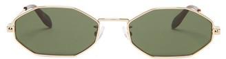 Alexander McQueen Octagonal Metal Sunglasses - Gold