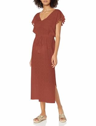 Seafolly Women's Textured Cotton Maxi Dress Kaftan Swimsuit Cover Up