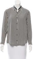 The Kooples Silk Striped Top