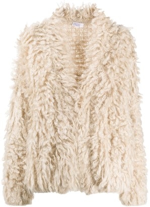 Brunello Cucinelli Faux-Fur Cardigan