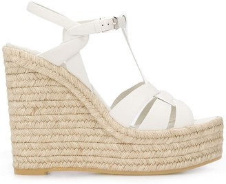 Saint Laurent Tribute espadrille 130mm wedge sandals