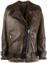 Blancha zipped oversized jacket