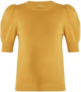 Chloé Iconic puff-sleeved cashmere sweater