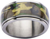JCPenney FINE JEWELRY Mens Camo Stainless Steel Ring