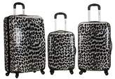 Rockland Leopard 3pc ABS Spinner Luggage Set